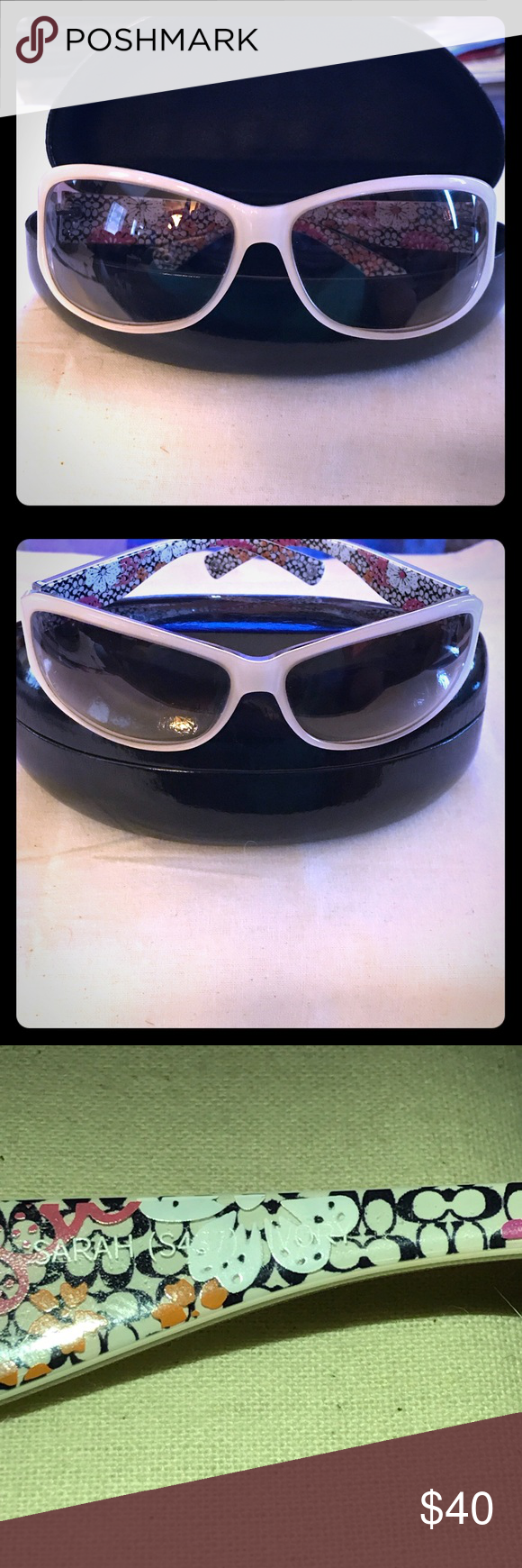 8d6b8b6a8a349 😎PRICE FIRM😎 Coach Sarah Sunglasses (Authentic) Sarah S437 Frame  Ivory  color