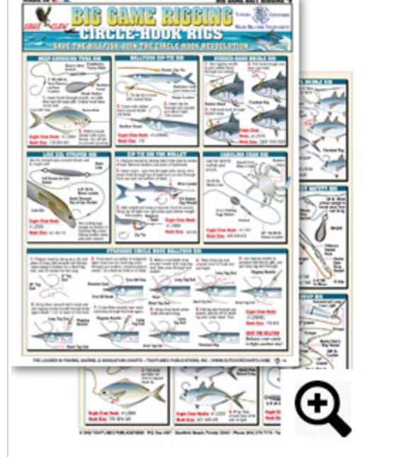 Big Game Rigging Chart 6 Circle Hook Rigs Contains Illustrations For The Following Deep Chunki With Images Best Fishing Knot Crappie Fishing Fly Fishing Flies Pattern