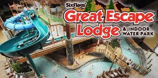 Lake George Resorts Fun Hotel Suites Indoor Waterpark At Six Flags Great Escape Lodge Lake George Water Park Lake George Ny