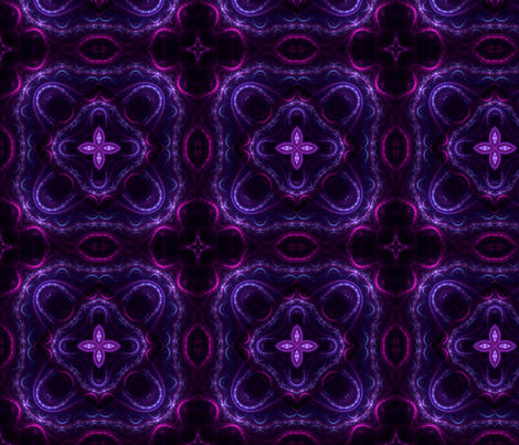 Square Fractal 2 - Purple and Magenta fabric by serendipitymuse on Spoonflower…