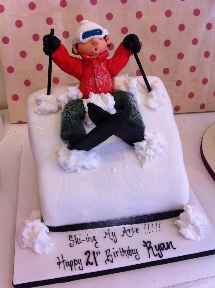 Ski cake 22 decembrie Pinterest Cake Amazing cakes and Cake