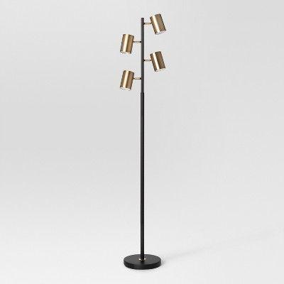 Globe Head Floor Lamp Led Black Project 62