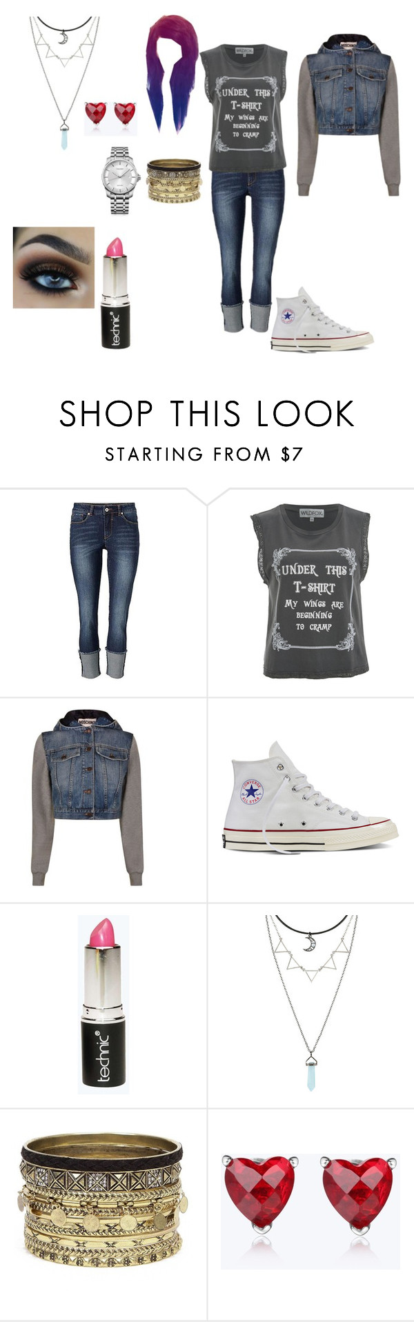 """""""Everyday outfit #30"""" by in-seva on Polyvore featuring Wildfox, Moschino, Converse, Boohoo, Daytrip and Calvin Klein"""