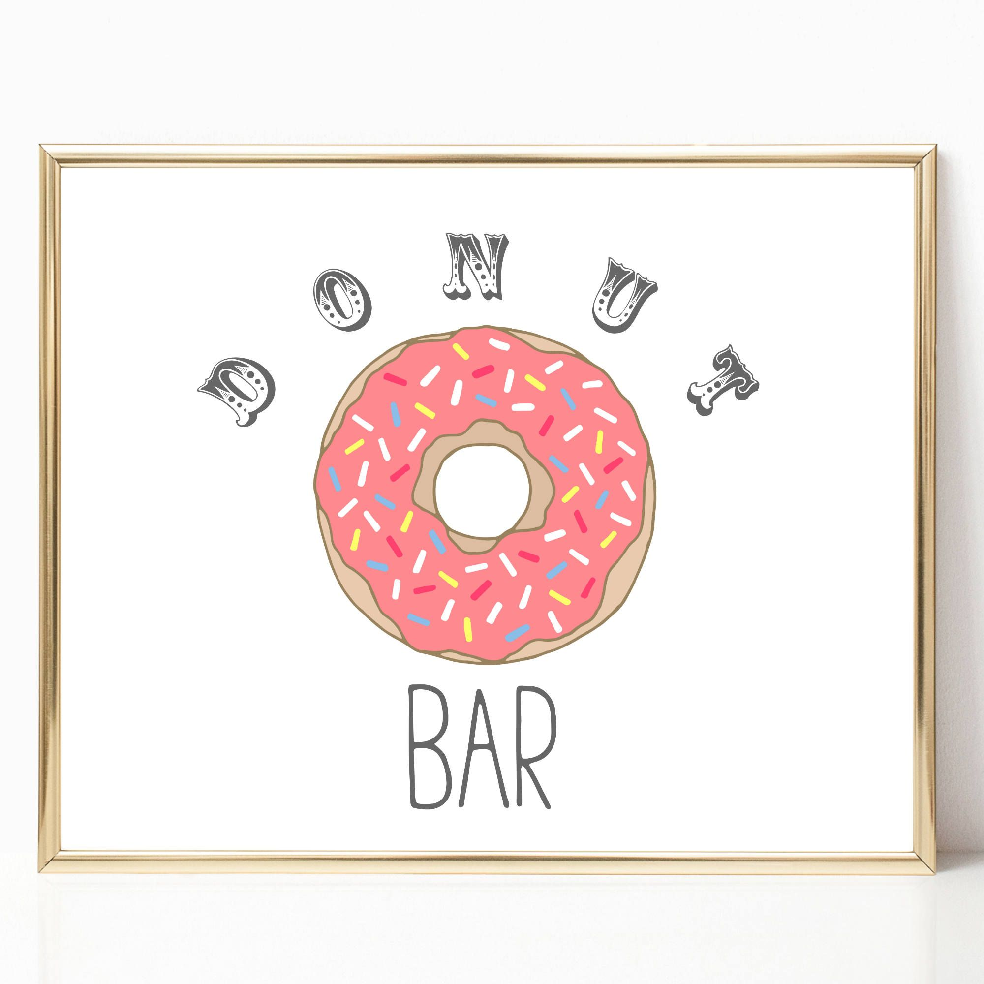 Donut Bar Party 8x10 Printable Instant Download Donut Bar Decor