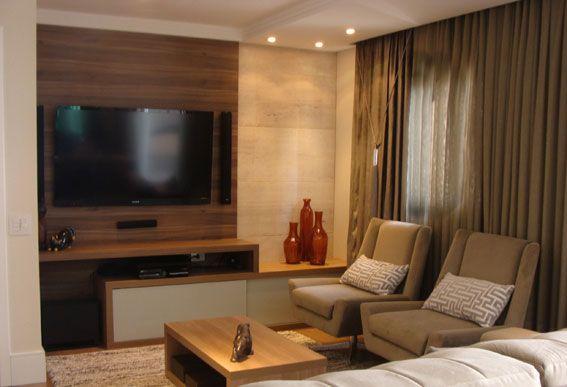 Sala De Tv Simples E Aconchegante ~ decoração Painéis de madeira dão aconchego e conforto térmico