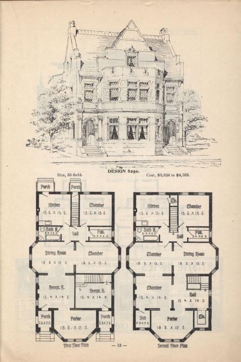 Artistic City Houses No 43 Planos Arquitectonicos De Casas Casas Victorianas Casas Antiguas
