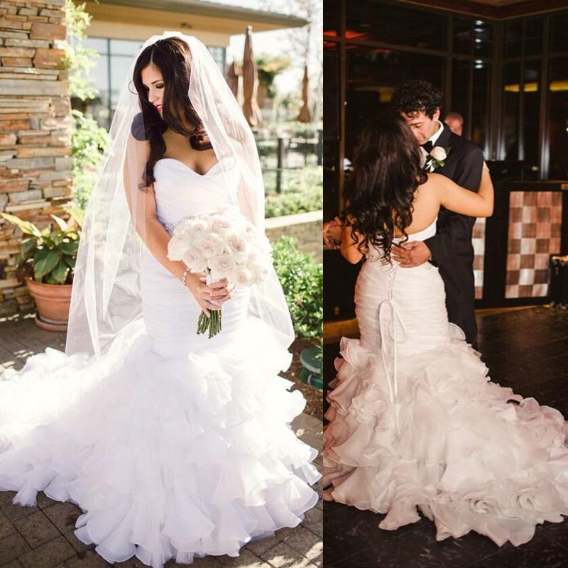 2017 Full Lace Wedding Dresses Country Style Pluging V-neck Cap ...