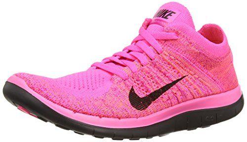 Nike Free 4.0 Flyknit, Women's Running Shoes, (Pink Powde... https