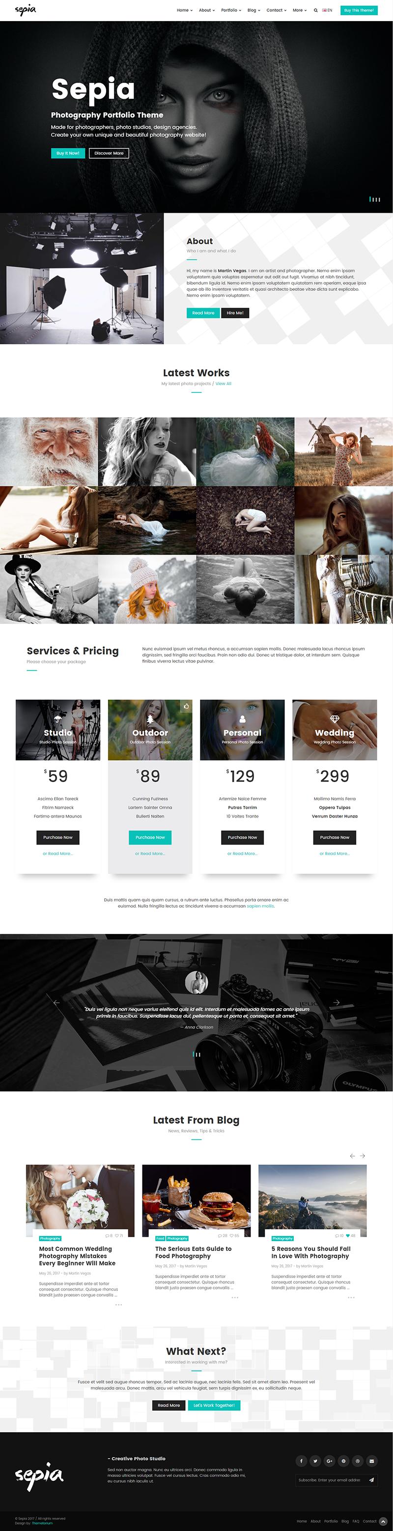 Berühmt Vorlage Für Die Fotografie Website Ideen - Entry Level ...