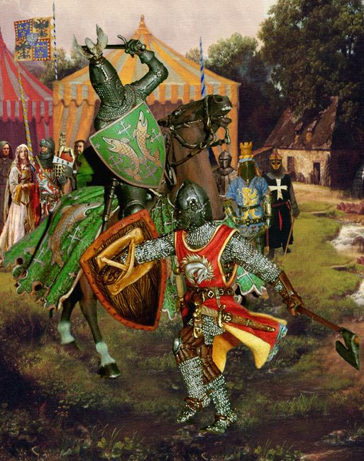 King Arthur & the Knights of the Round Table; Paintings of