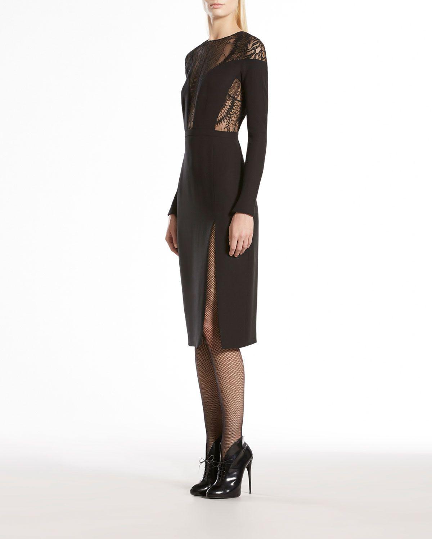 Gucci lace fern longsleeve dress neiman marcus fashion casual