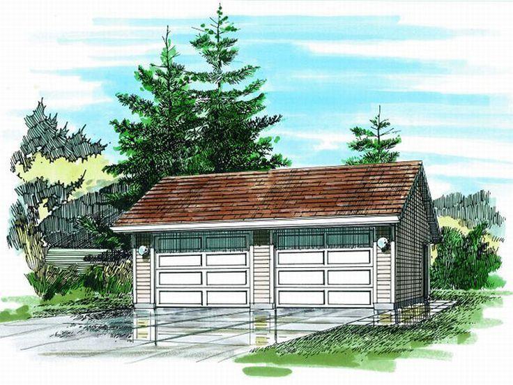 2Car Garage Plan, 033G0021 (With images) Garage plan