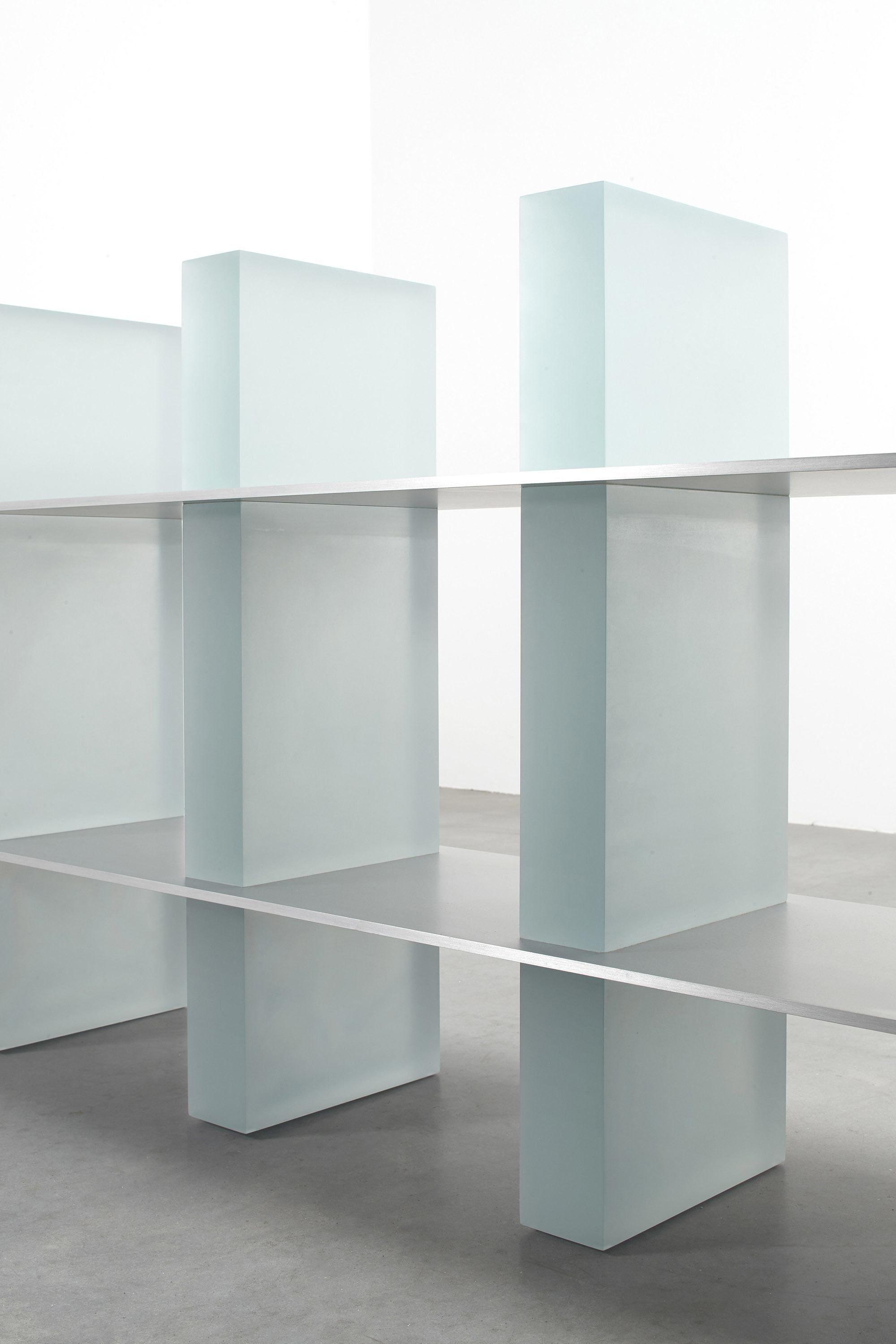 The Art Of Light Introducing The Haze Shelf By Wonmin Park Ignant Shelves Modern Outdoor Dining Aluminum Shelves