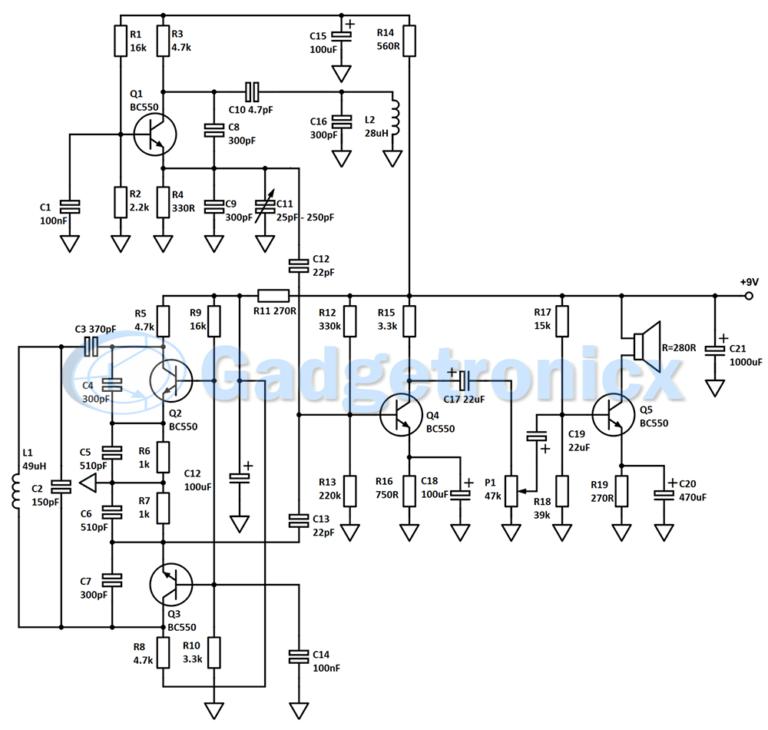 Stupendous Circuitmetaldetectorschematic Basic Electronics Wiring Diagram Wiring Digital Resources Bemuashebarightsorg