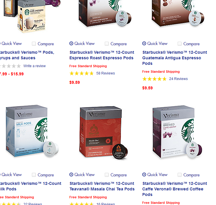 Hurry! Starbucks Verismo pods are on sale at Bed, Bath & Beyond. Only $9.59/box. Free standard shipping included.
