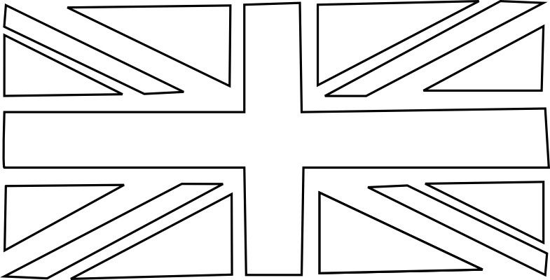 Union Jack Template Flag Coloring Pages Bunting Template American Flag Coloring Page