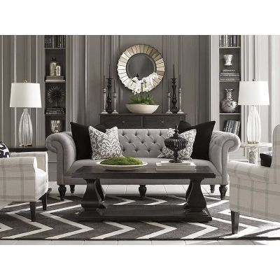 Merveilleux Bassett 2090 62 Chesterfield Sofa Available At Hickory Park Furniture  Galleries