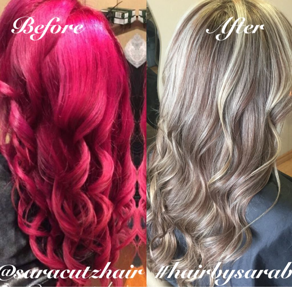 Transform yourself from raspberry to blonde and beige ashy transform yourself from raspberry to blonde and beige ashy lowlights all over soft curls and no solutioingenieria Images