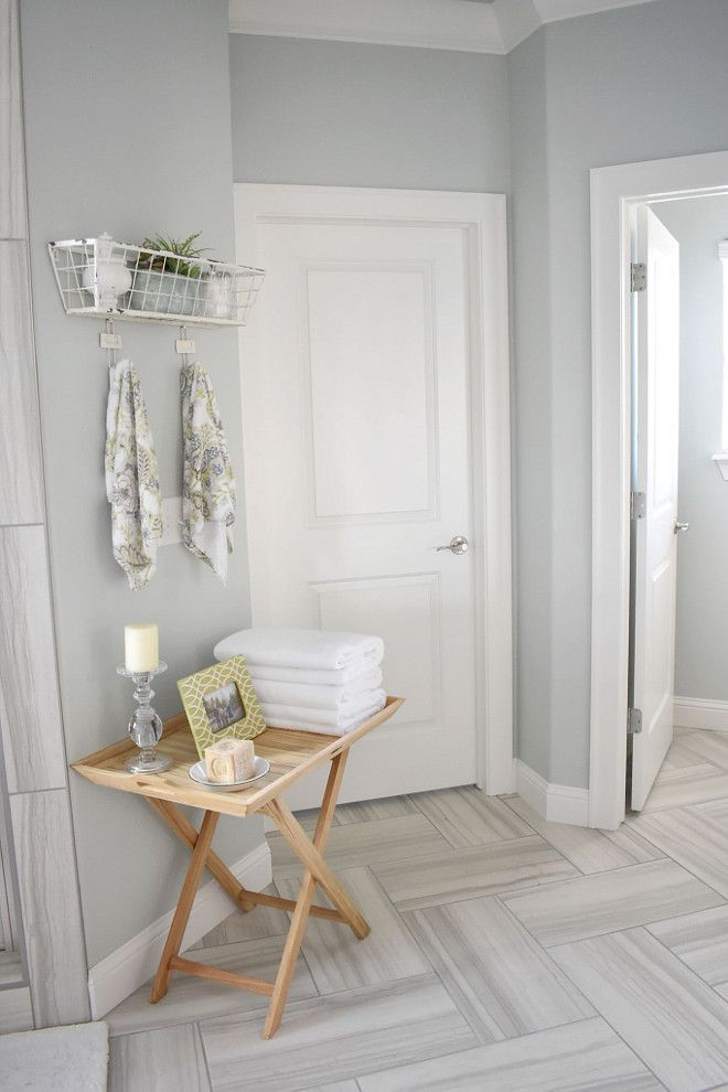 Sea Salt Walls By Sherwin Williams Wood Tile Bathroom