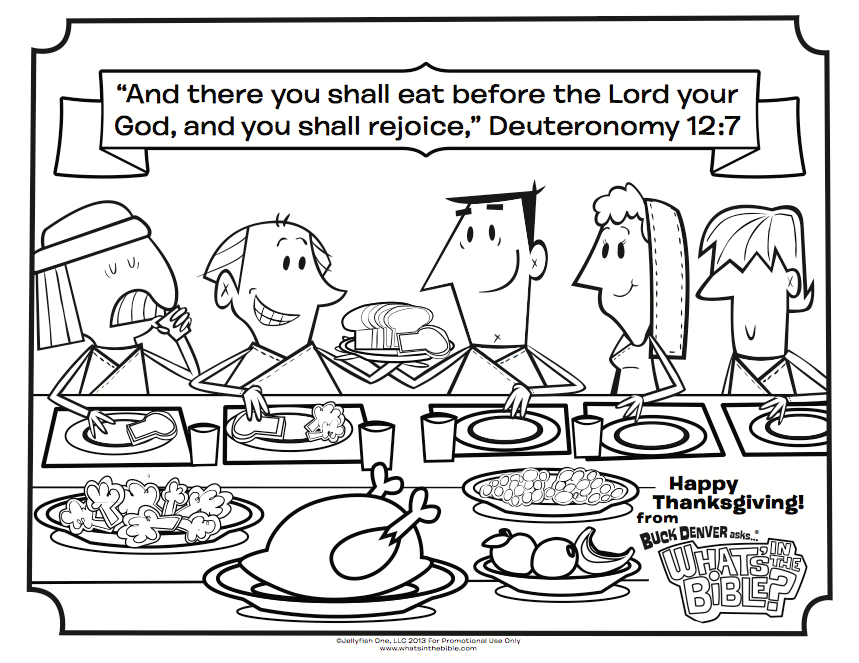 Deuteronomy 127 Thanksgiving Coloring Page
