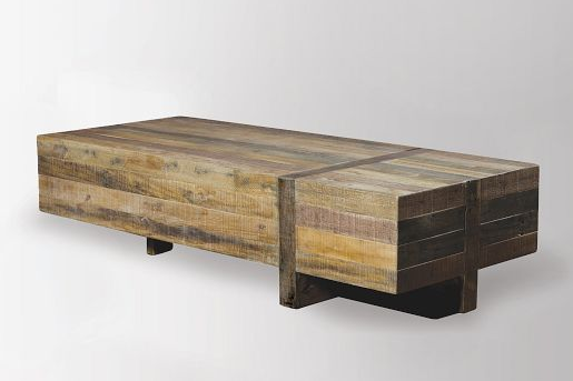 Reclaimed Pine Block Coffee Table Natural In 2020 Coffee Table Rustic Coffee Tables Home Coffee Tables