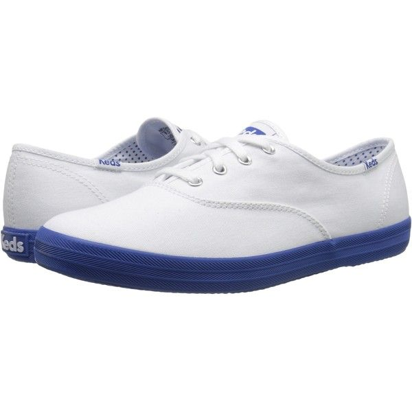 2b051b841ce4 Keds Champion Oxford (White Blue) Women s Lace up casual Shoes (€29) ❤  liked on Polyvore featuring shoes