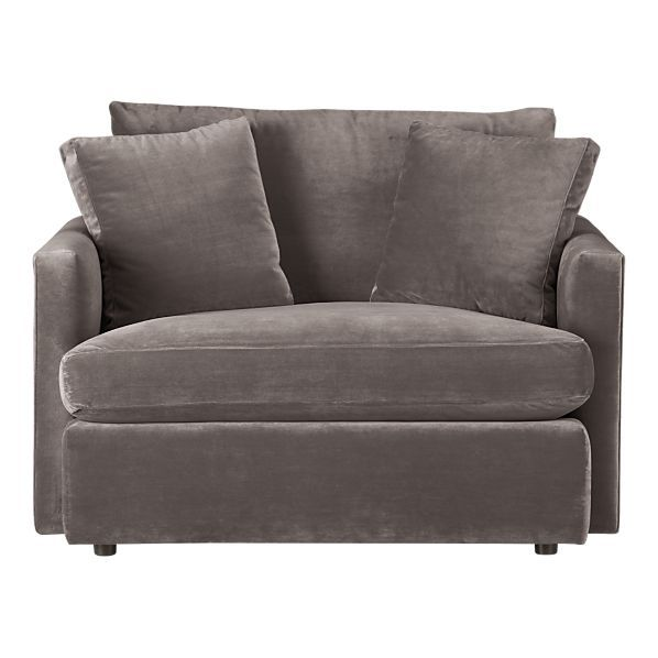 Best of seriously the fiest chair I have sat in air and half with ottoman from crate & barrell with velvet suede Simple - Contemporary most comfortable chair in the world Picture