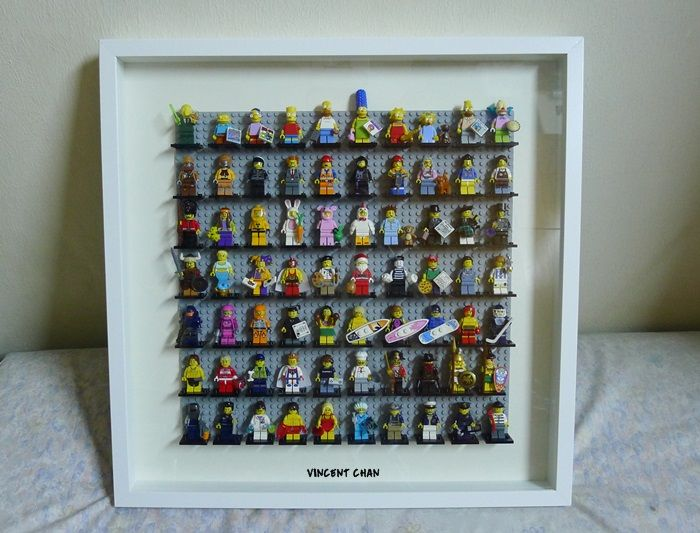 lego display, Minifigure display case with Ikea Ribba Frame ...