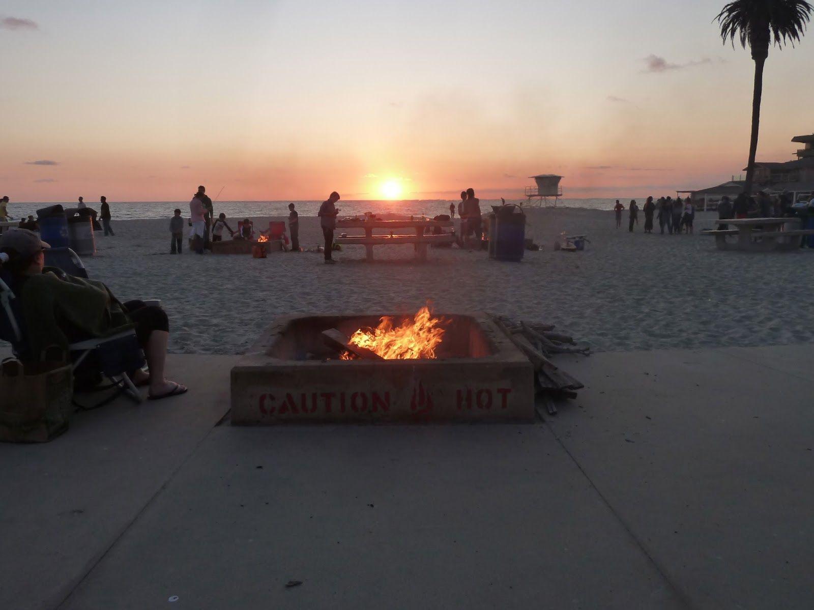 Moonlight Beach Fire Pit Beach Fire Pit Beach Fire Outdoor Decor