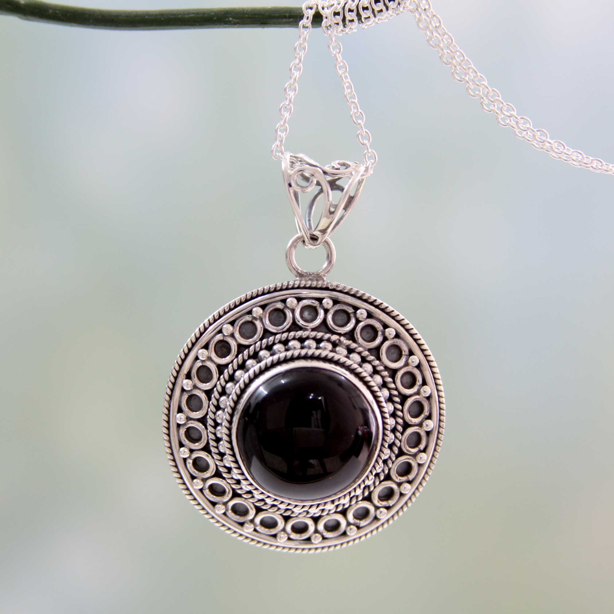 necklace black clasp silver isaac with westman products sterling onyx