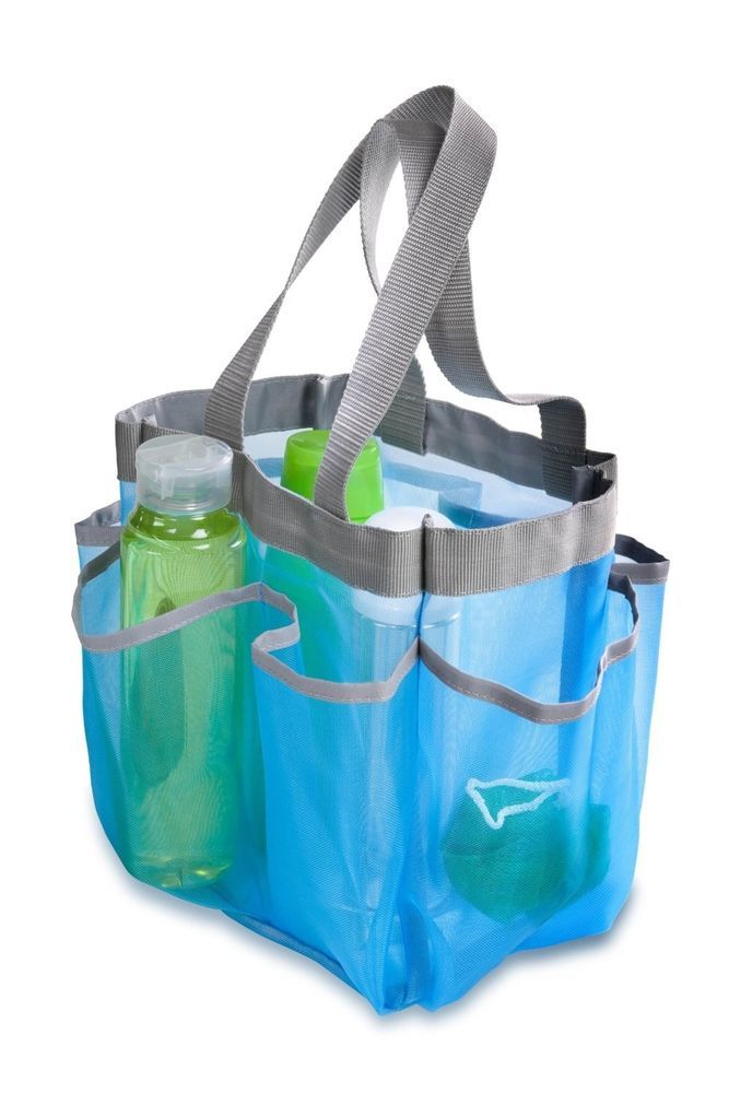 Mesh Shower Caddy Portable College Gym Dorm Travel Hanging Bag Tote ...