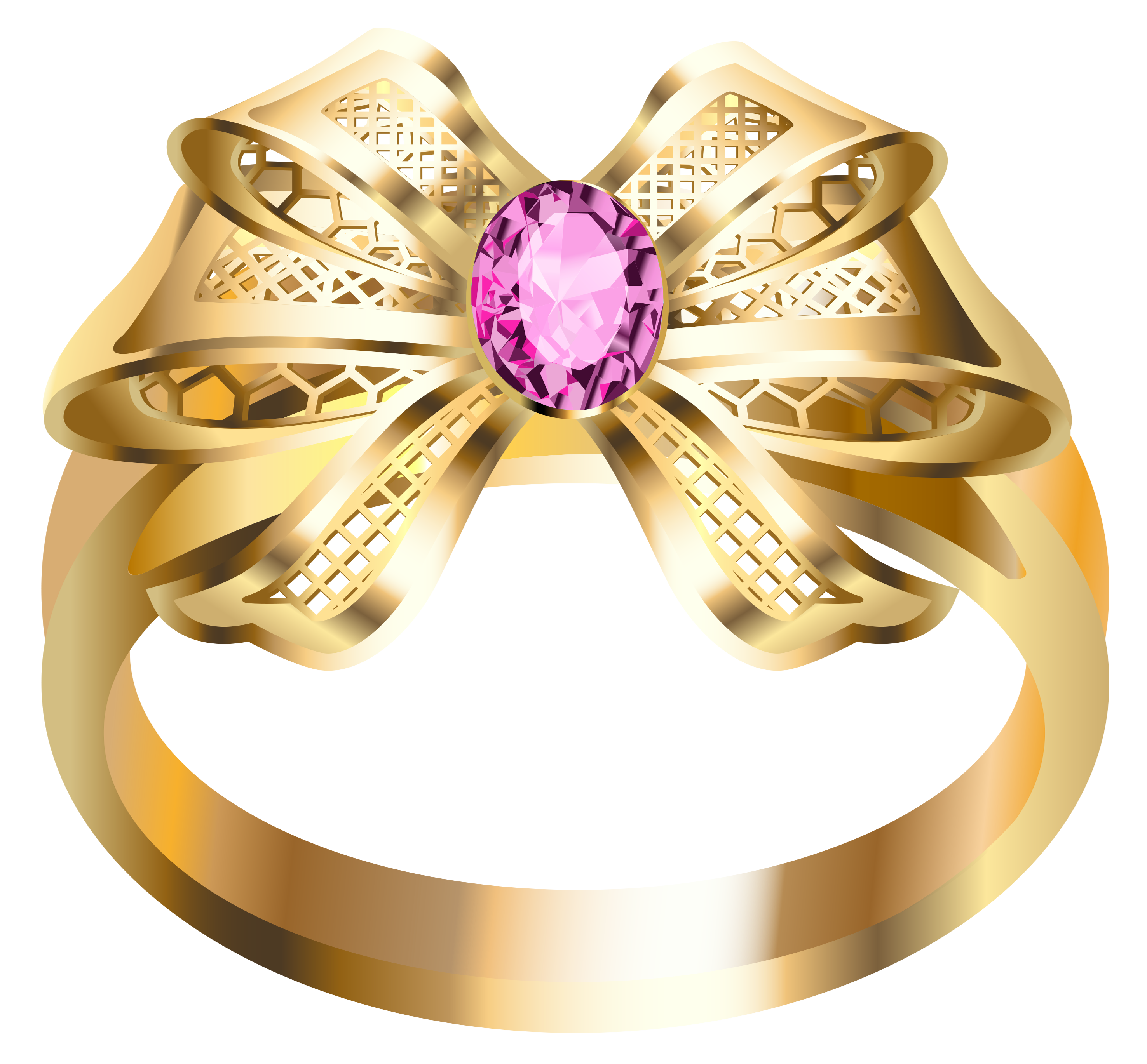 Gold Ring With Diamonds Png Image Pink Diamond Gold Rings Golden Ring