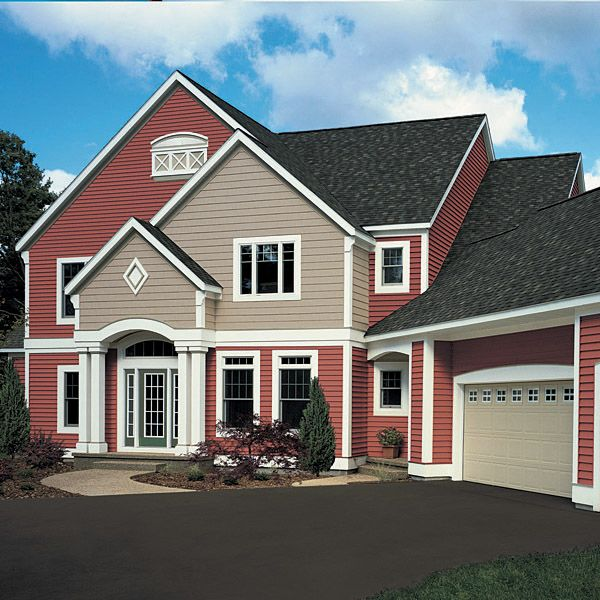 Images of red houses vinyl siding is a very popular for Popular vinyl siding colors
