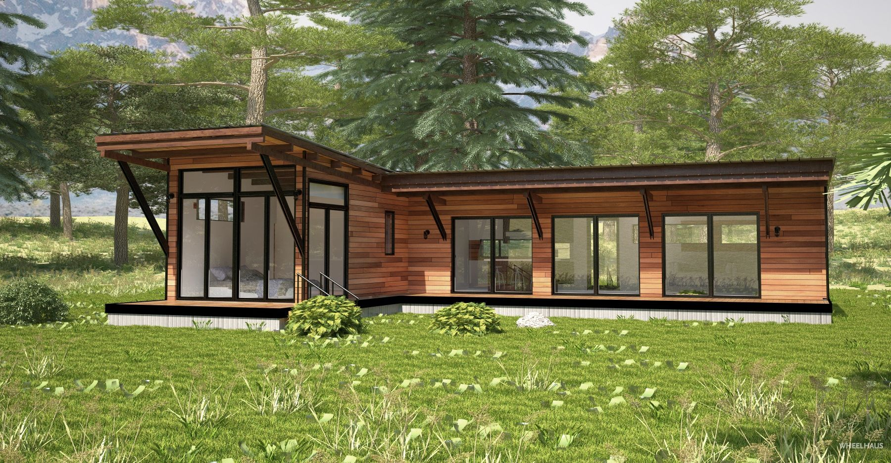 At 1 000 Square Feet The Hitch Haus Is A Double Unit Modular Home