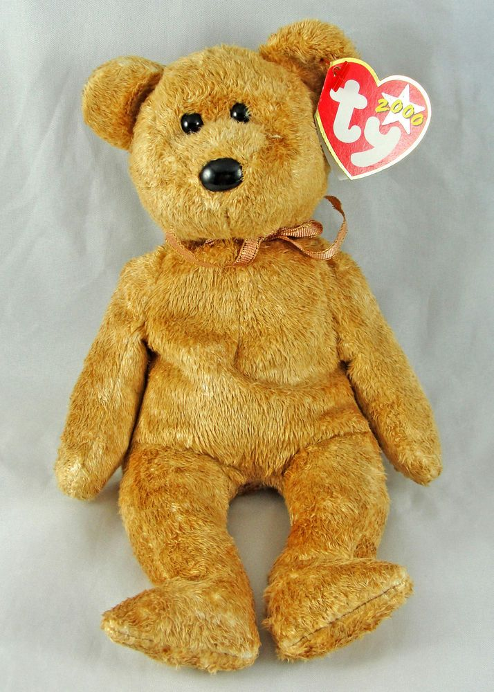0fb51c819d0 Details about Ty Beanie Baby Cashew the Bear 9