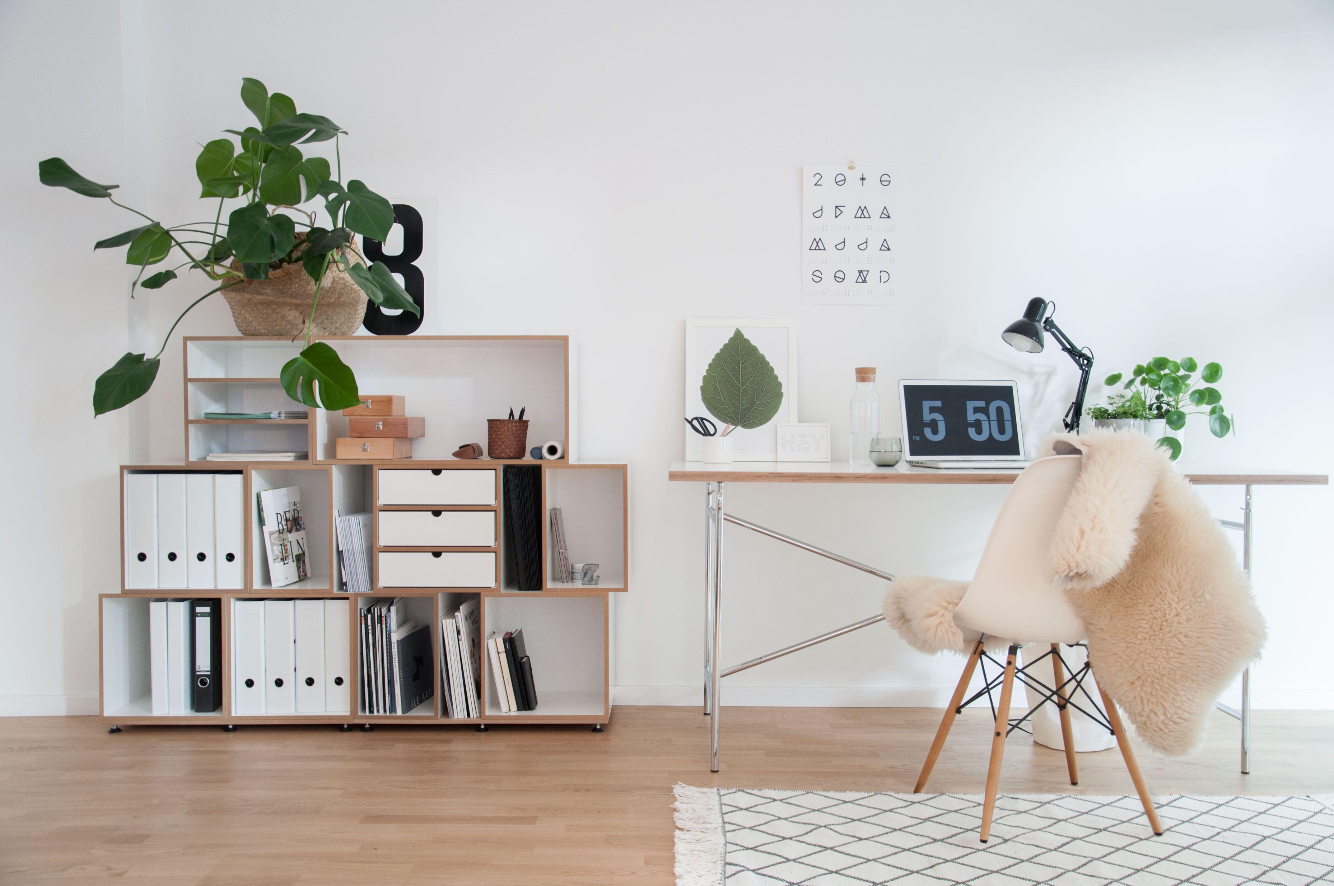 Büro im Wohnzimmer einrichten | Wohnzimmer einrichten ...