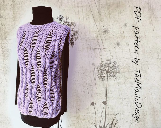 Photo of Knitting Pattern – Rocky Sweater Vest, For beginners