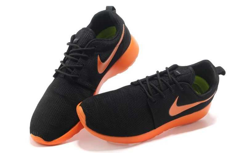 bas prix f552d d5208 Nike Roshe - Run - Mens Black Fluorescent Orange Junior | My ...
