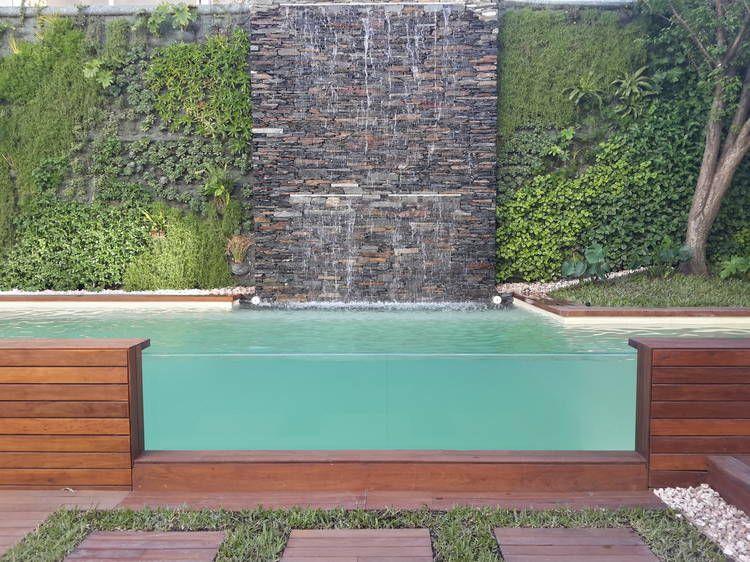 10 consejos para que la pileta sea funcional y de vanguardia cascadas pinterest consejos - Fuentes para piscinas ...