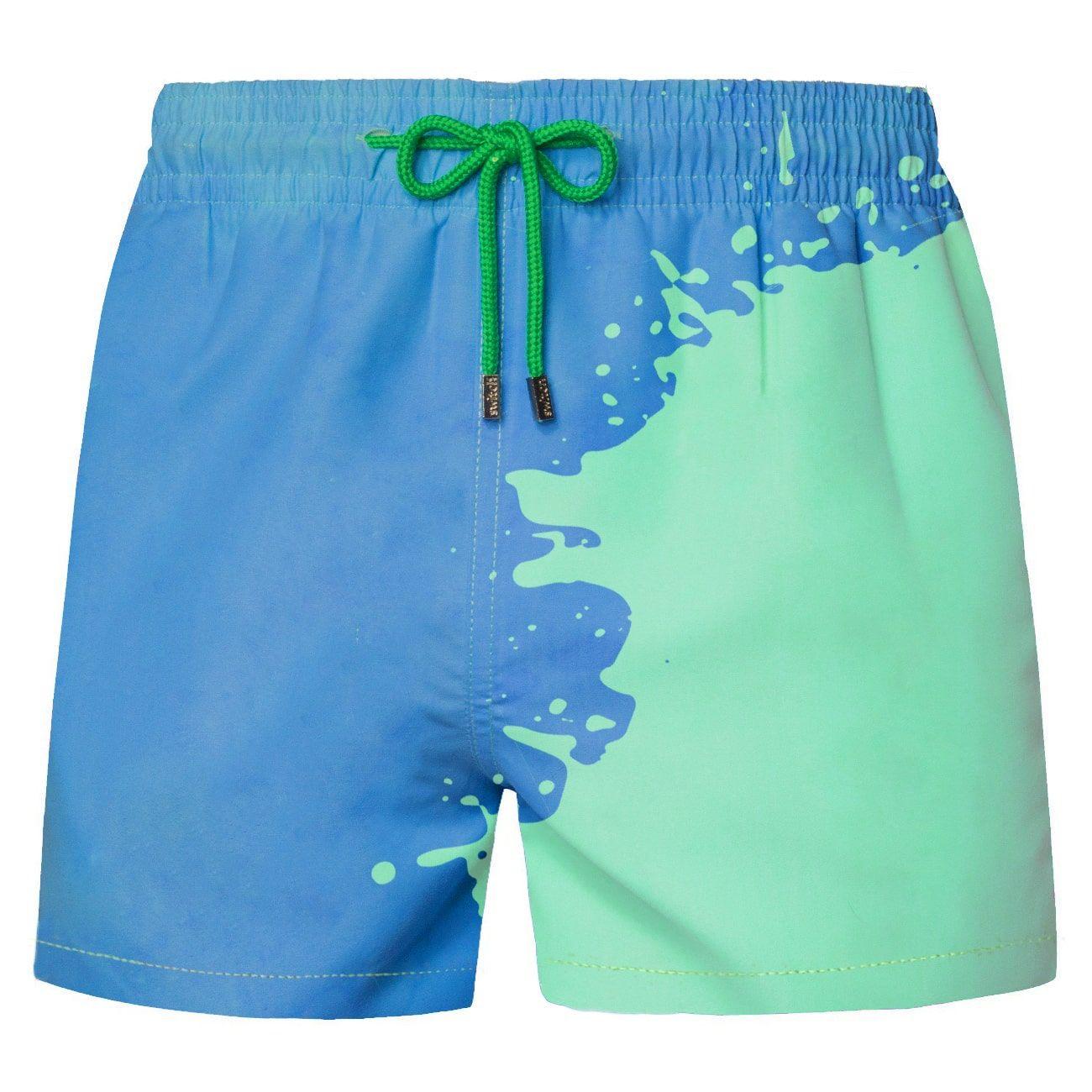 Men Color Changing Swim Trunks Bathing Shorts Beach Swiming Shorts Beach  Pants.