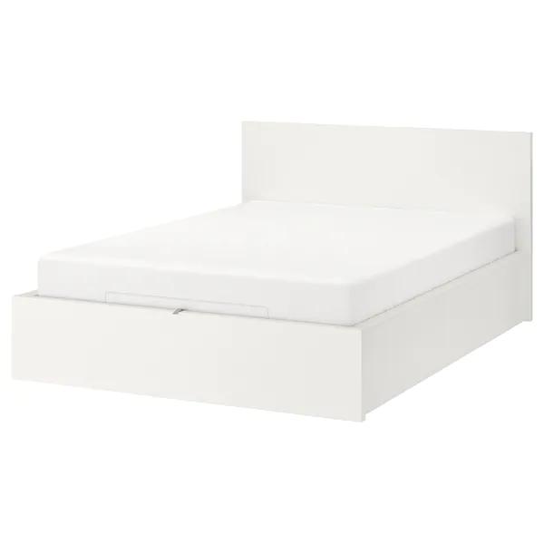 Malm Lozko Z Pojemnikiem Bialy 160x200 Cm Kupuj Dzisiaj Ikea Storage Bed Bed Frame With Storage Malm Bed Frame