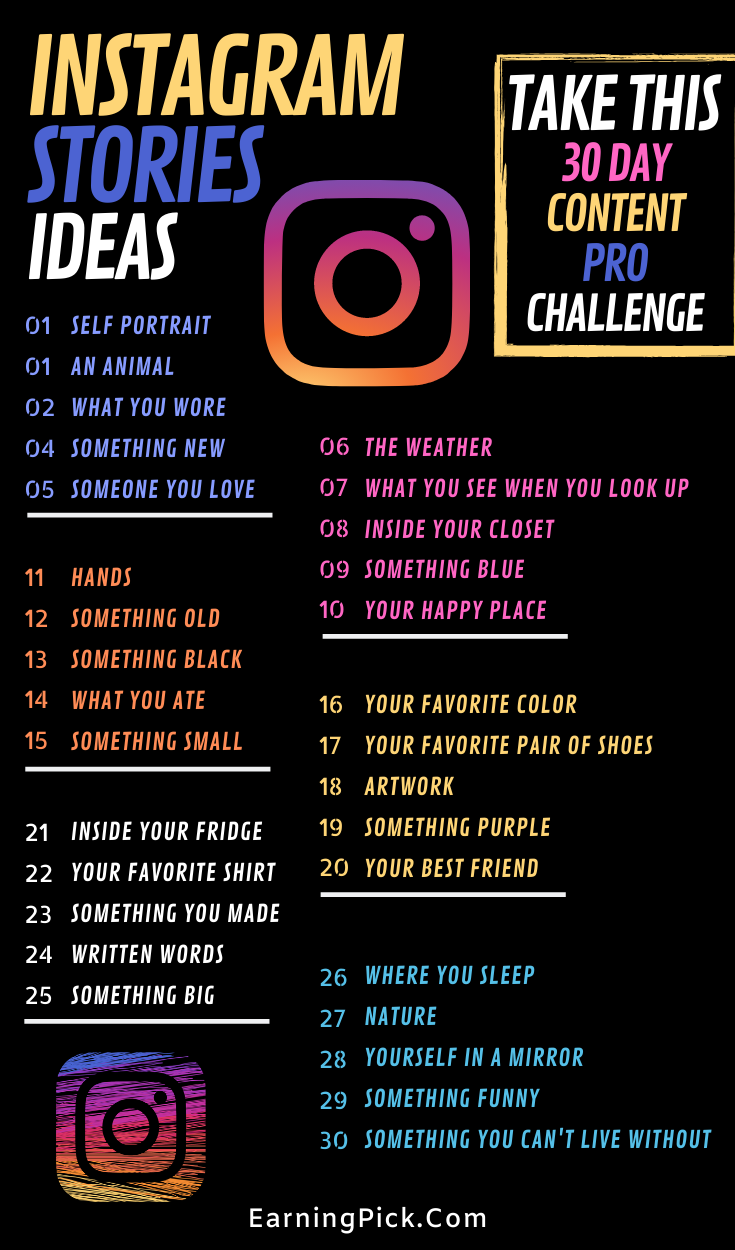 30 Day Instagram story ideas for you in 2020!