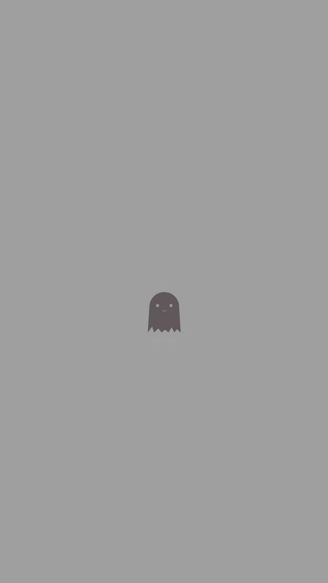 Cute Ghost Art Character Illust Minimal Simple Iphone Wallpapers