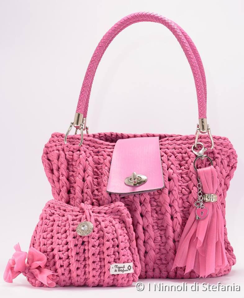 1beea8711 DISEÑO ORIGINAL Bolsos Hechos A Mano, Bolsos De Trapillo, Carteras A  Crochet, Bolso