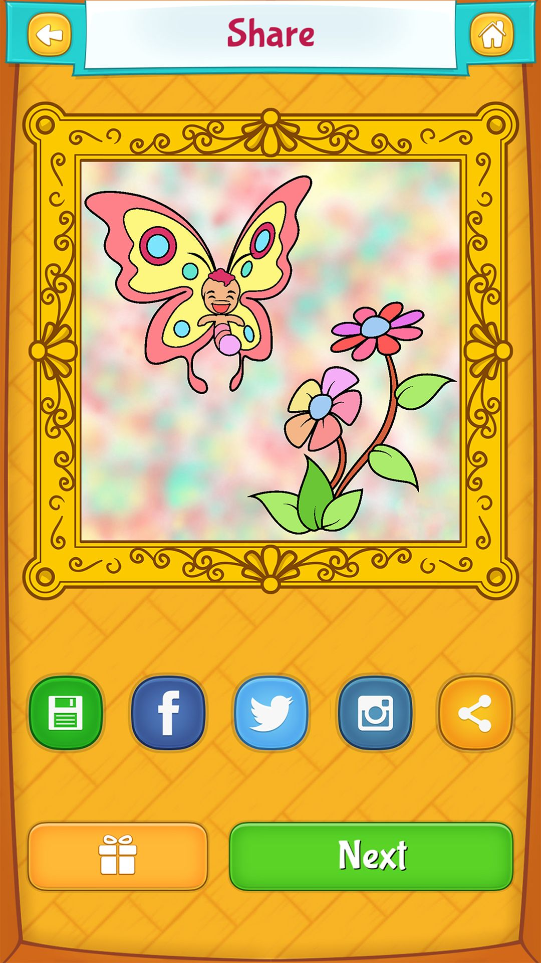 Butterfly Coloring Pages For Kids Android Iphone Ipad App Fairy Coloring Pages Butterfly Coloring Page Coloring Book App