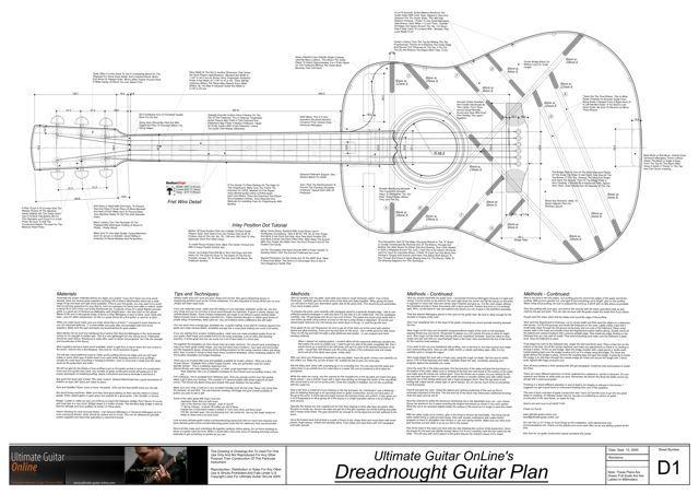 Dreadnought Guitar Plans Acoustic Guitar Martin Guitar Guitar