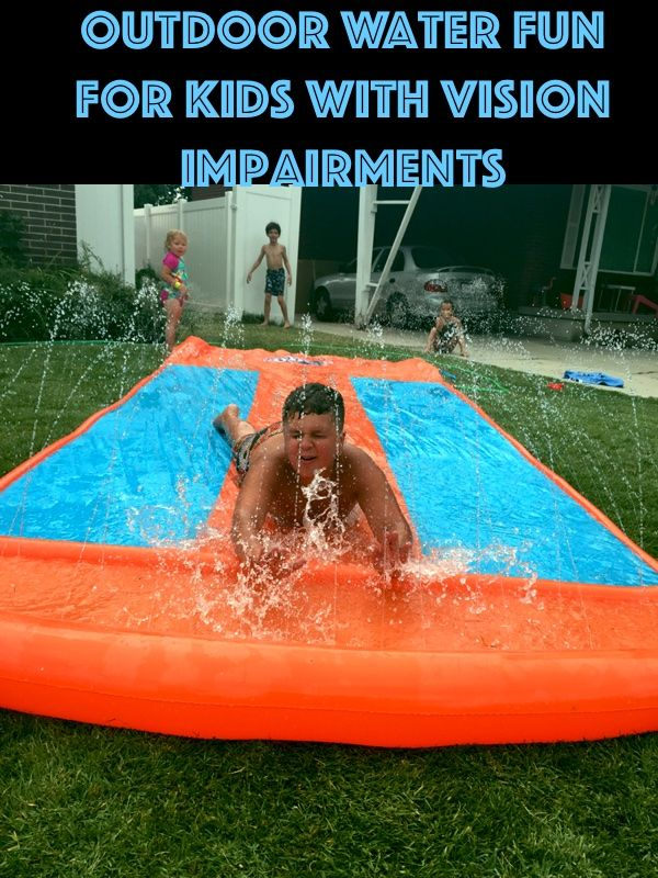 The Independent Little Bee Outside Water Fun For Kids With Vision Impairments Water Fun Fun Cool Kids
