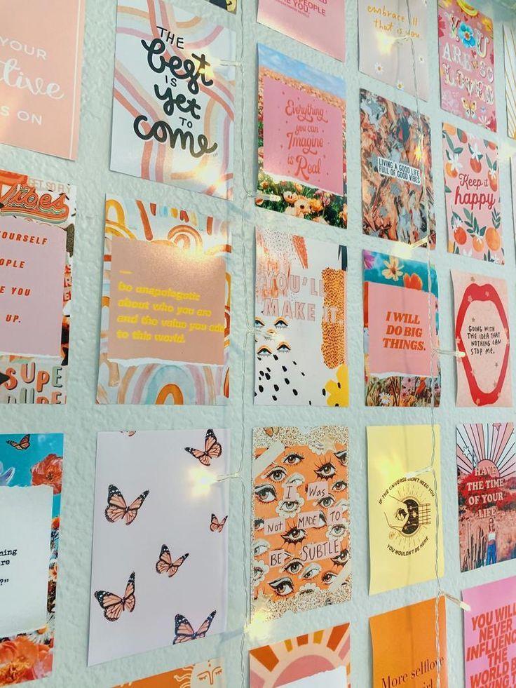 positive pink vintage collage kit prints