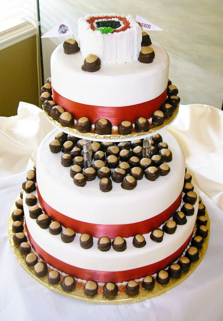 Ohio State Themed Wedding Complete With Hand Made Buckeyes Yum My Dream Cake