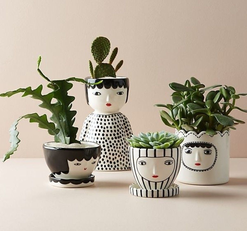 25 Beautiful Planters Both You And Your Leafy Friends Will Love Face Planters Planters Birthday Wishes